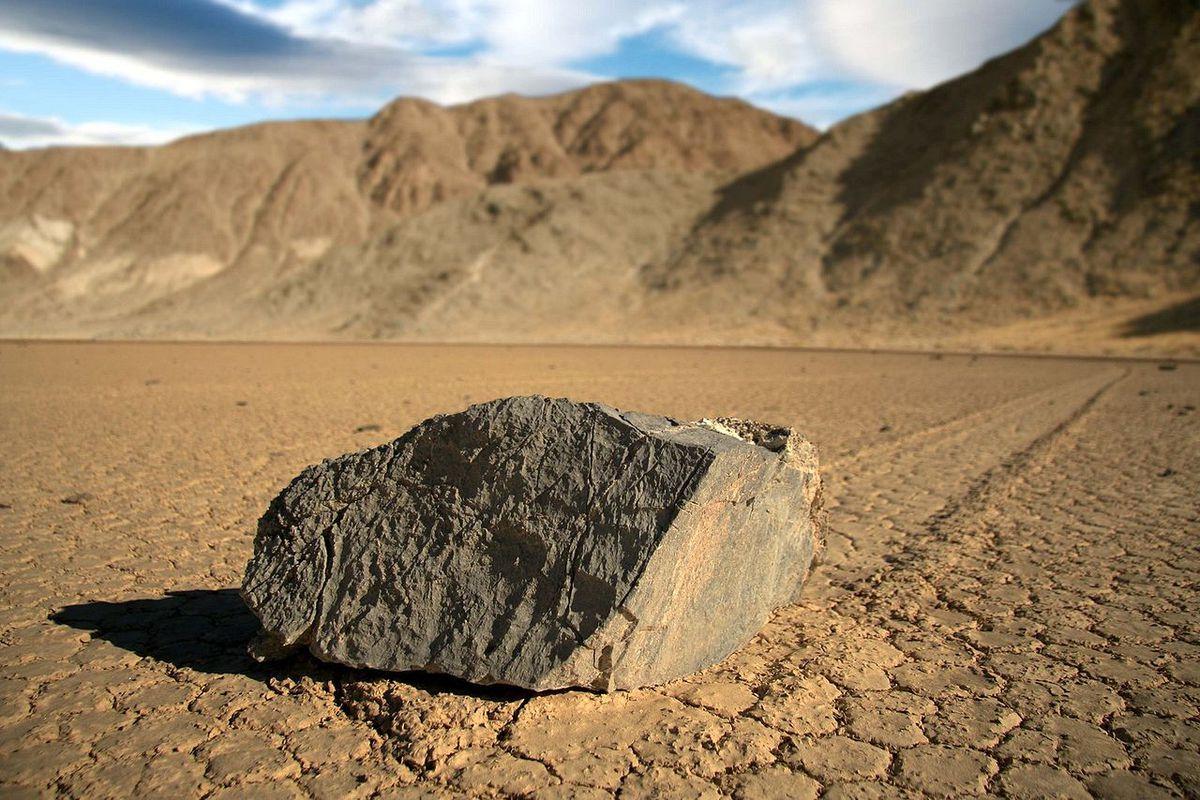 One of Racetrack Playa's sailing stones.