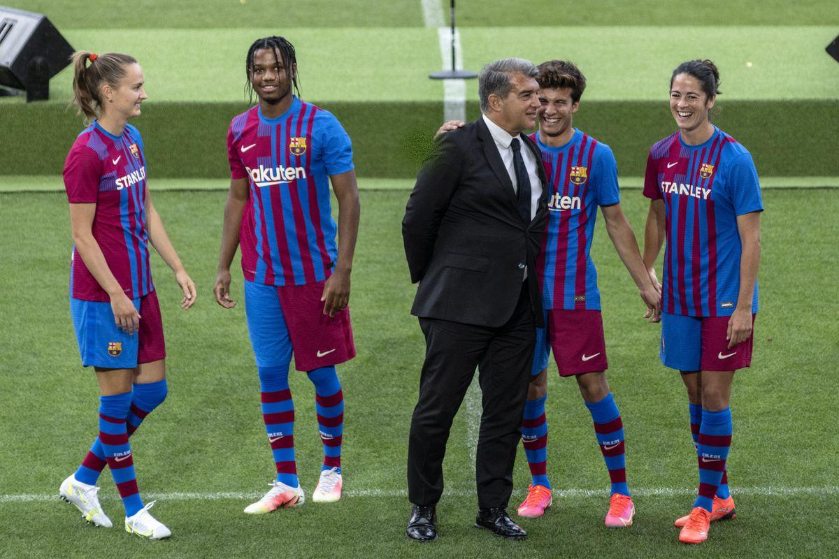 Presentation for Barcelona's next season kit