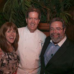 Nancy and Tim Cushman from O Ya in Boston and Tribeca's Drew Nieporent