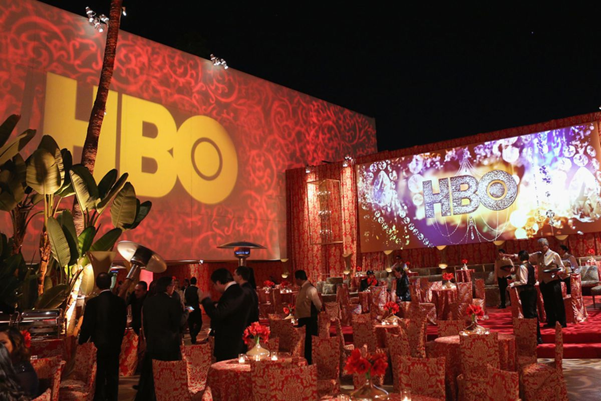 Last year's HBO party. Image via Getty.