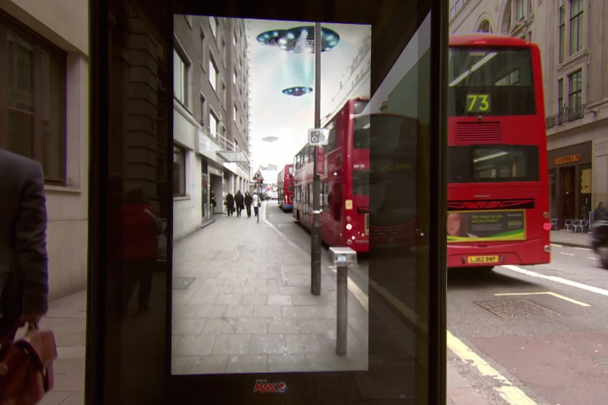 Pepsi's bus stop ad in London might be the best use of