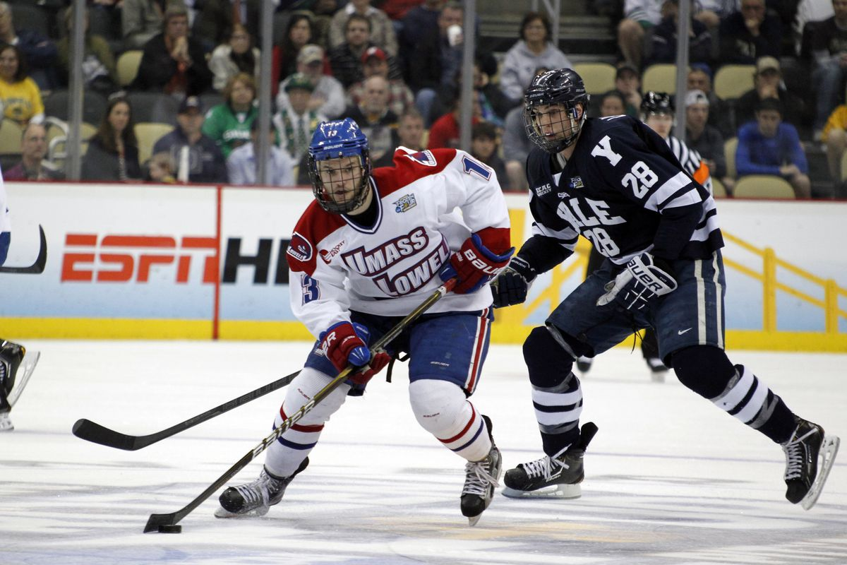 Adam Chapie is the leading goal scorer for the River Hawks with six.