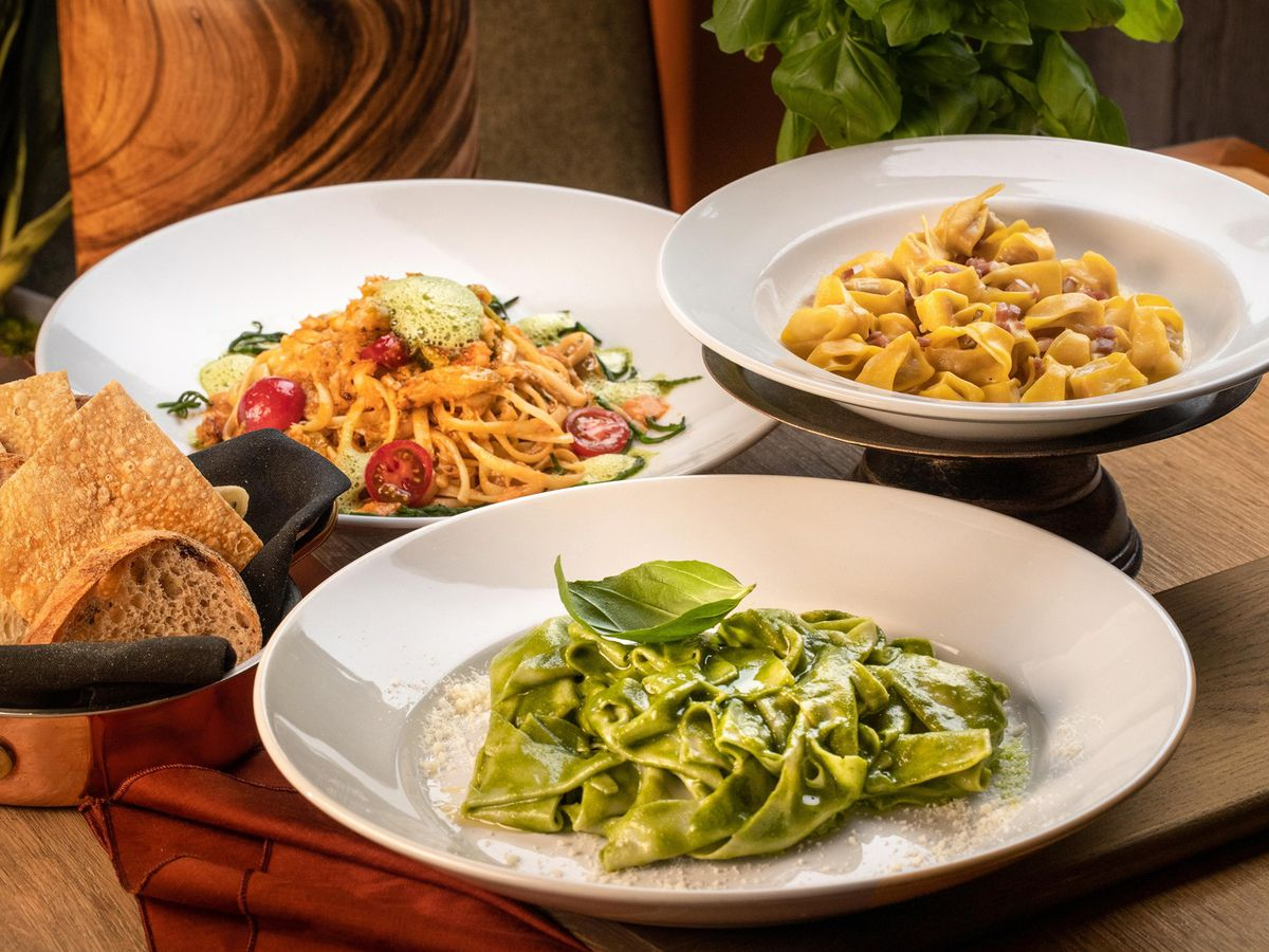 Three pasta dishes