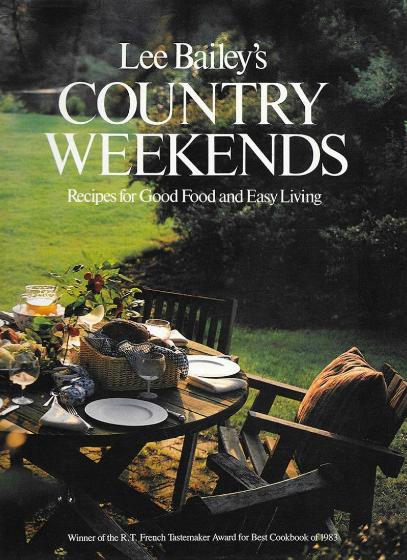 Lee Bailey's Country weekends cookbook cover
