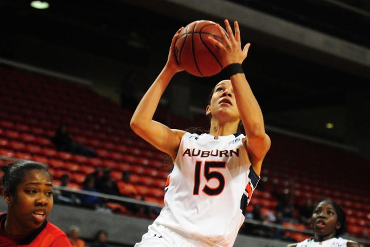 Jazmine Jones (15) Ole Miss vs Auburn Women's Basketball on Thursday, February 19, 2015 in Auburn, Ala