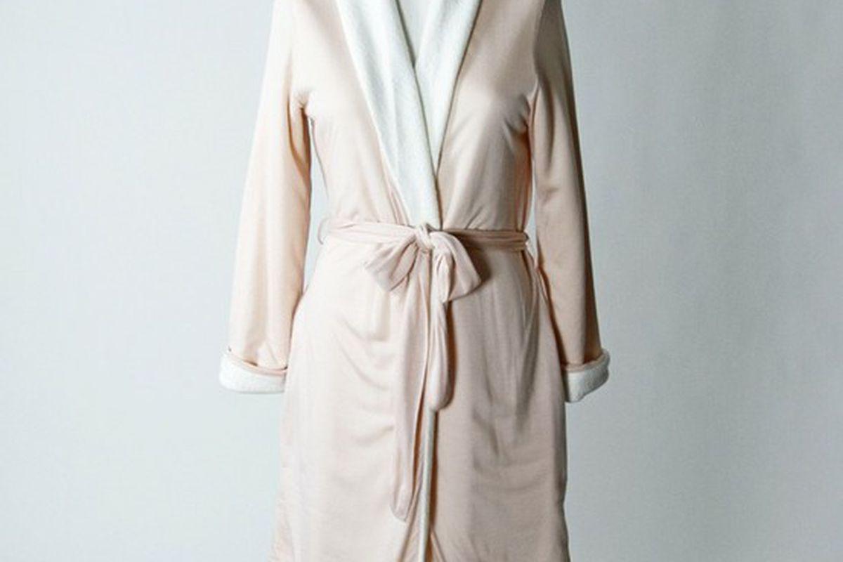 "Gorgeous <a href=""http://www.shopfortywinks.com/sleepwear/eberjey-alpine-chic-classic-robe-3.html"">Eberjey robe</a> at Forty Winks."