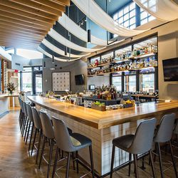 The bar at Drift Fish House.