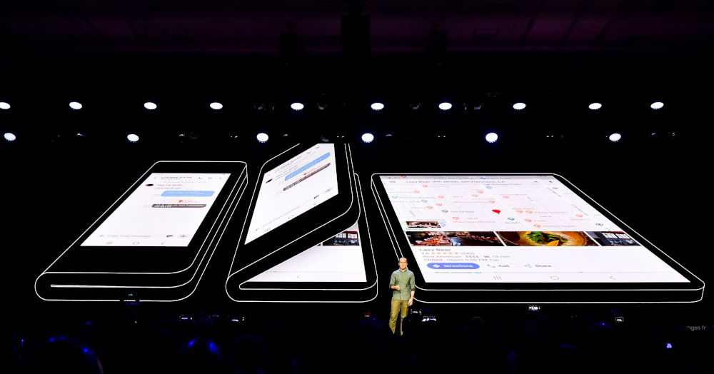 The foldable phones are coming