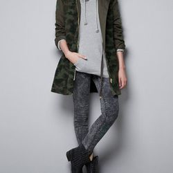 "<strong>Zara</strong> Camouflage Coat, <a href=""http://www.zara.com/webapp/wcs/stores/servlet/product/us/en/zara-us-W2012/269209/972522/CAMOUFLAGE%20COAT"" target=""new"">$129</a>"