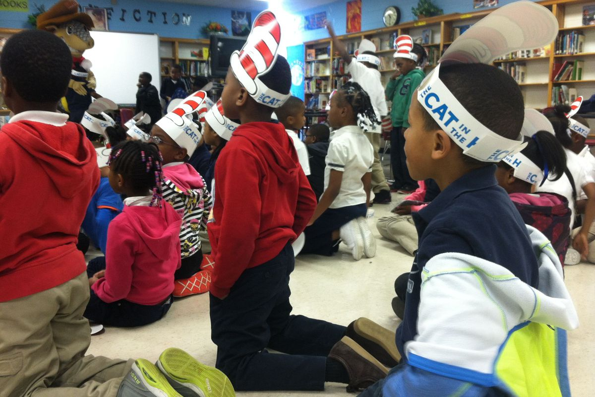 Students enjoy a reading day at Westhaven Elementary School in Memphis.