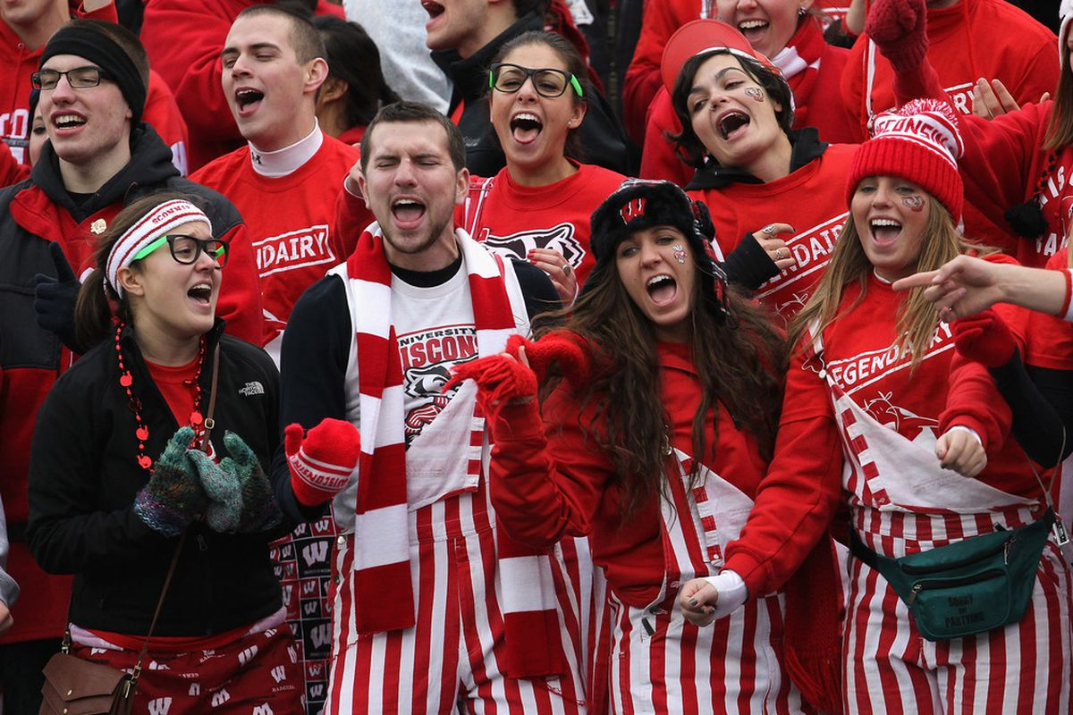 Where might these fans be headed if Wisconsin doesn't return to the Rose Bowl?