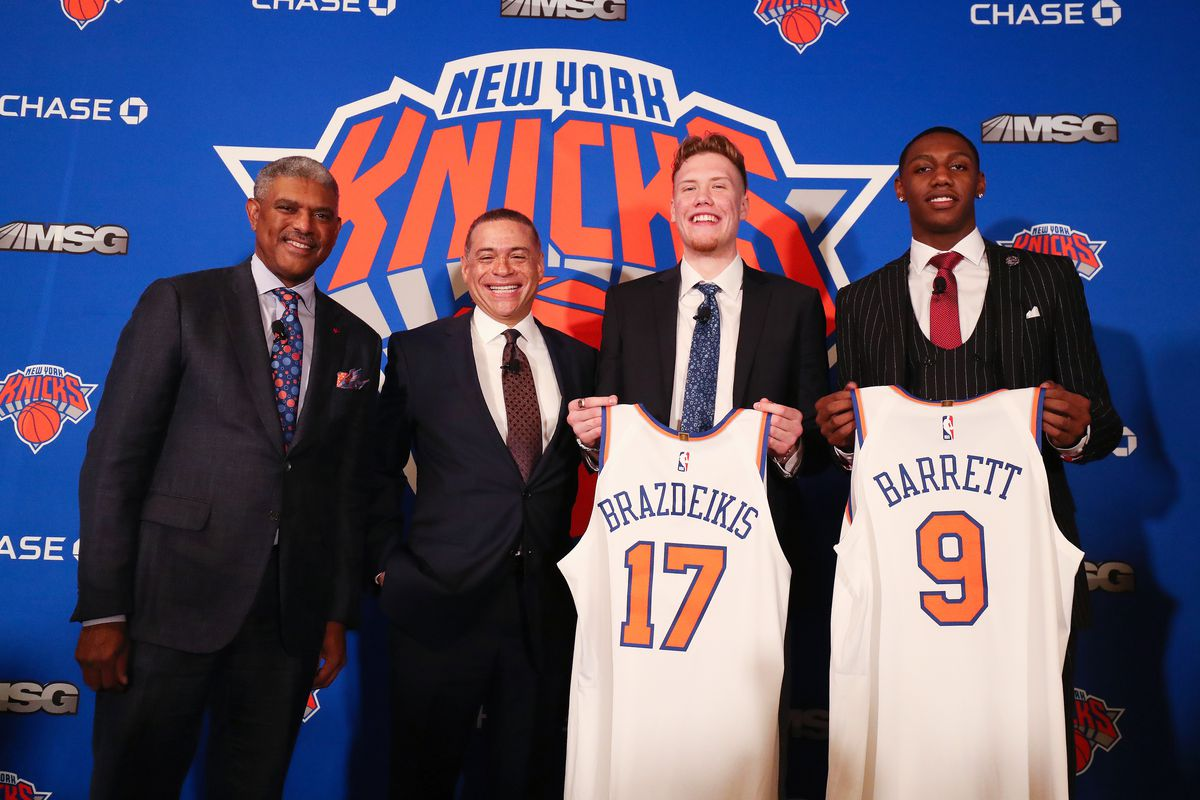 Steve Mills and Scott Perry held a press conference immediately following the Knicks' blowout loss