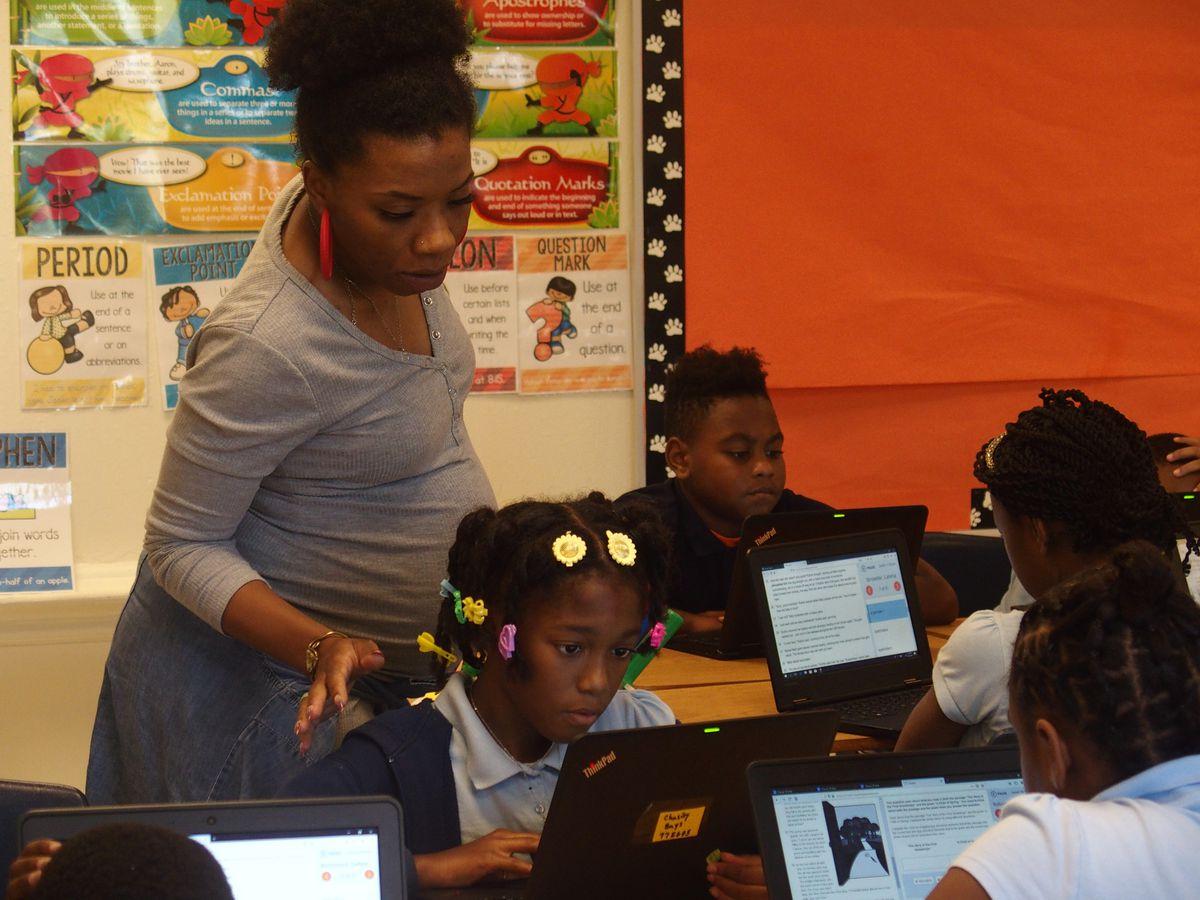 Classroom at Hamilton K-8 in Memphis.