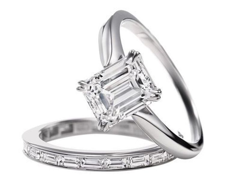 harry winston emerald cut solitaire price upon request - Harry Winston Wedding Rings