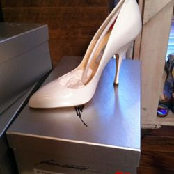 These are $400, still seems kind of expensive for white patent pumps