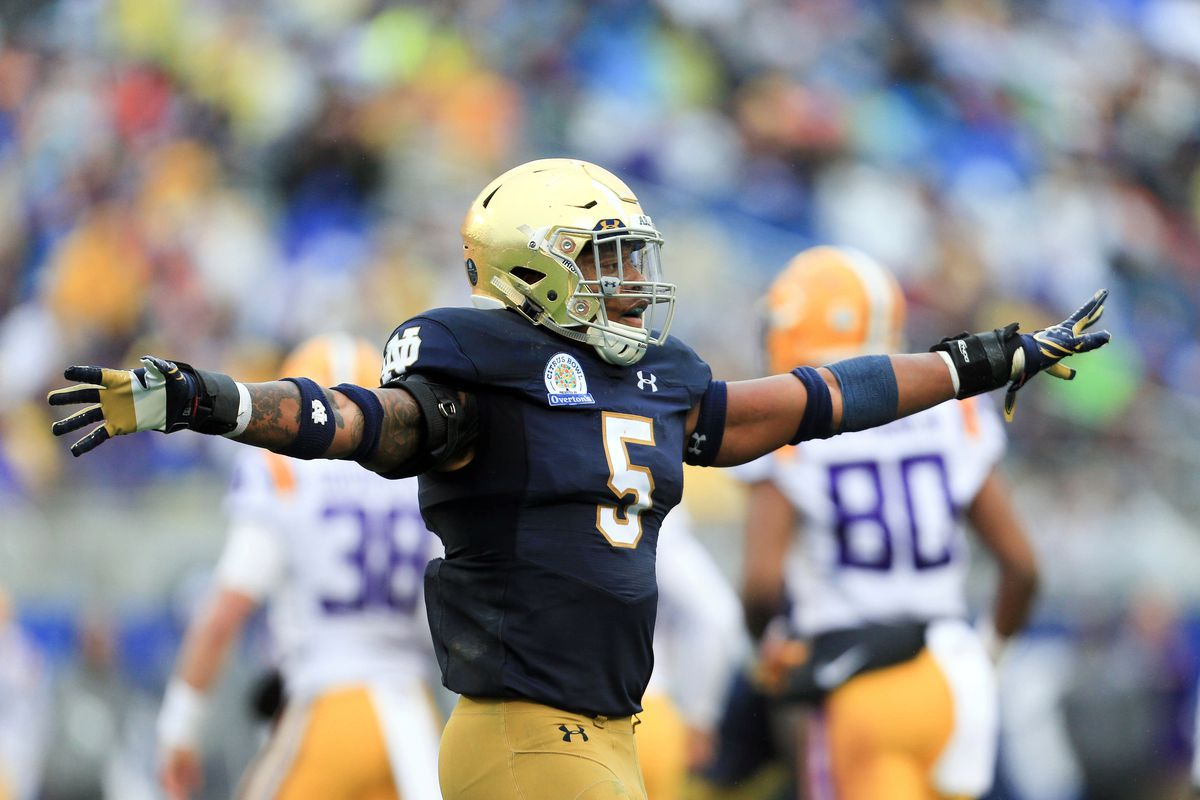 94f6a2fe NFL DRAFT 2018: Notre Dame LB Nyles Morgan Signs With Chicago Bears ...