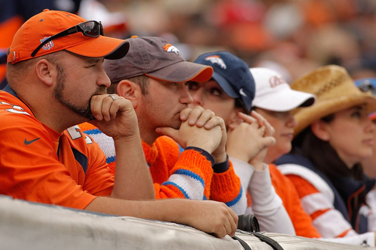 Denver fans wonder if this is the week Tim Tebow gets to play. The Broncos visit the Oakland Raiders this week. (Photo by Justin Edmonds/Getty Images)