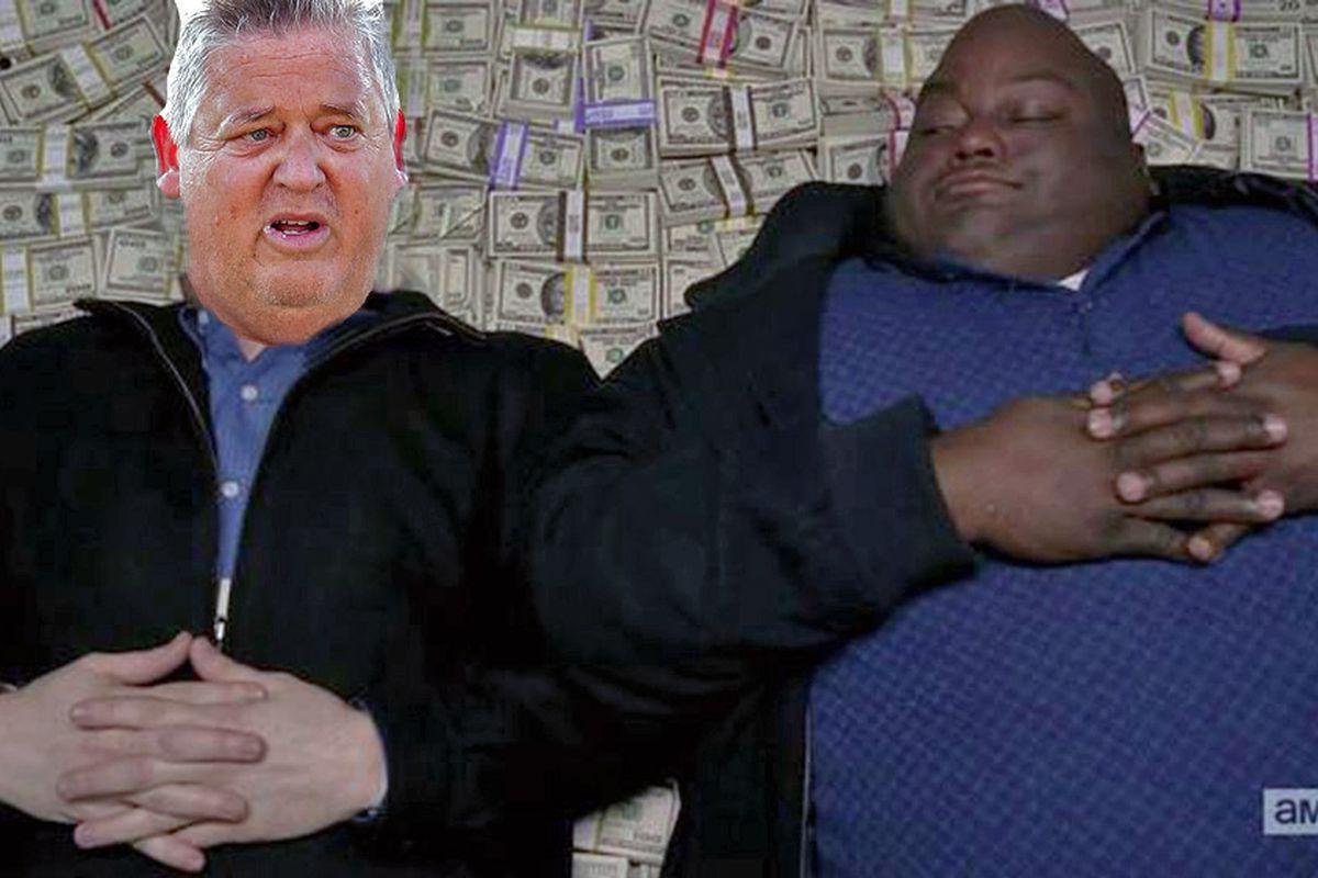 Big ol' pile of money