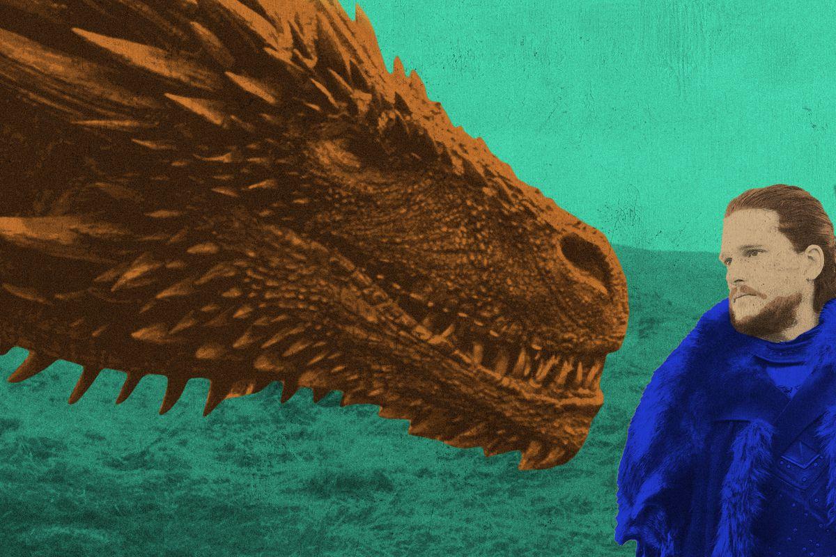 Drogon and Jon Snow