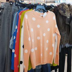 Equipment sweaters for $129.99 (orig. $200), Paige Premium Denim for $69.99 (orig. $160)