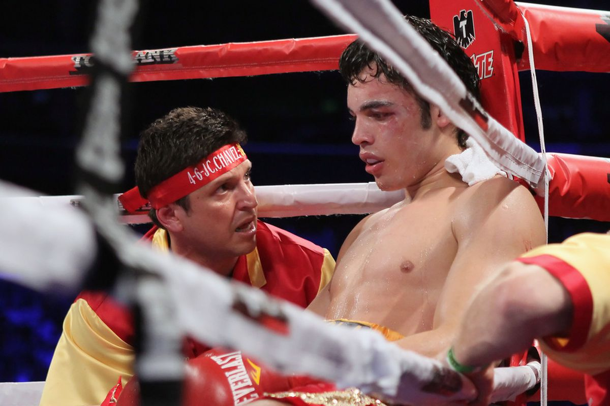 Julio Cesar Chavez Jr and Alex Ariza are at odds, and apparently won't be working together for Chavez's next fight. (Photo by Jeff Gross/Getty Images)