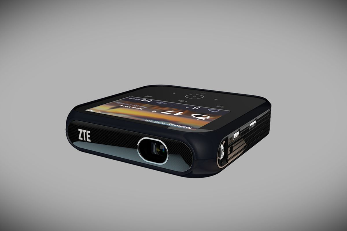 Zte 39 s new portable hotspot doubles as a projector the verge for Mirror zte phone to tv