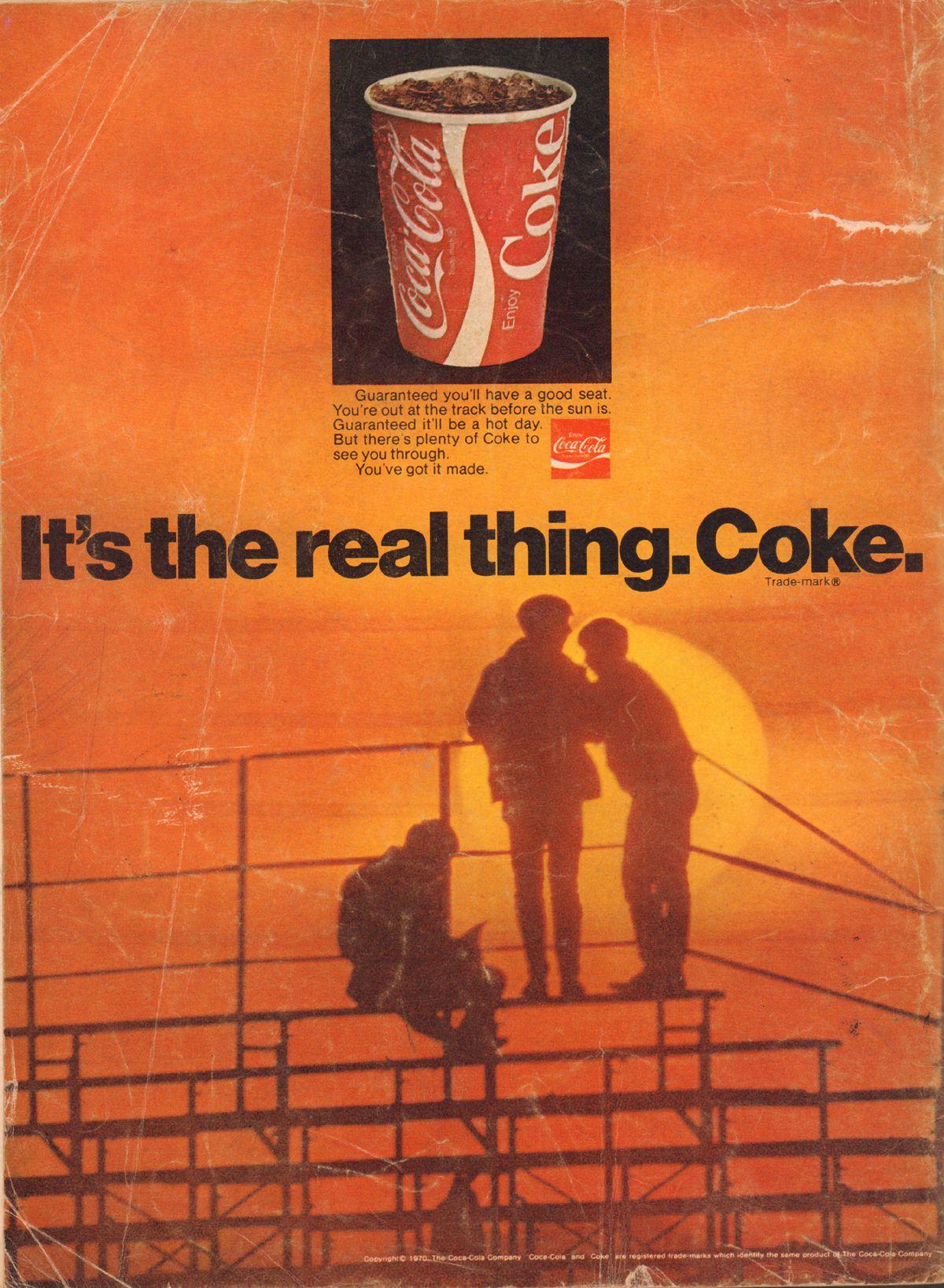A 1970 Coke ad.
