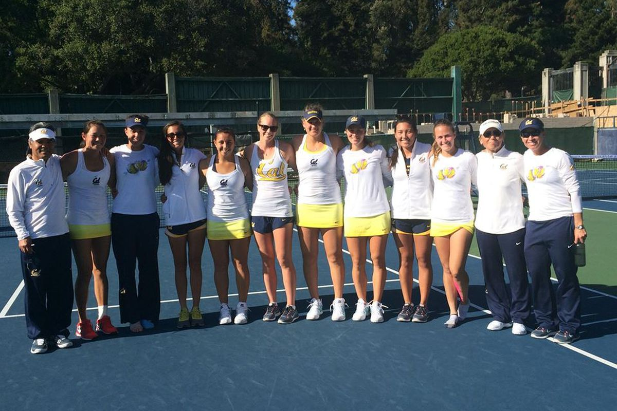 Cal team took this photo after the epic 4-3 win over UCLA last week