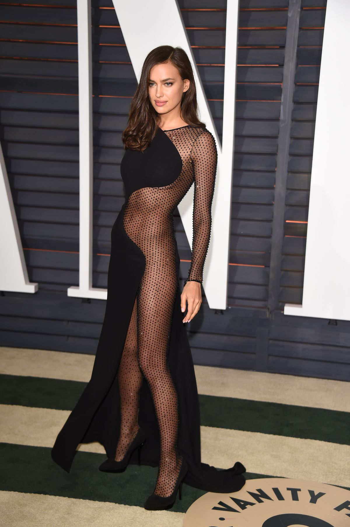 Naked fishnet dress Oscars After Party Dress Trend Mostly Naked Racked