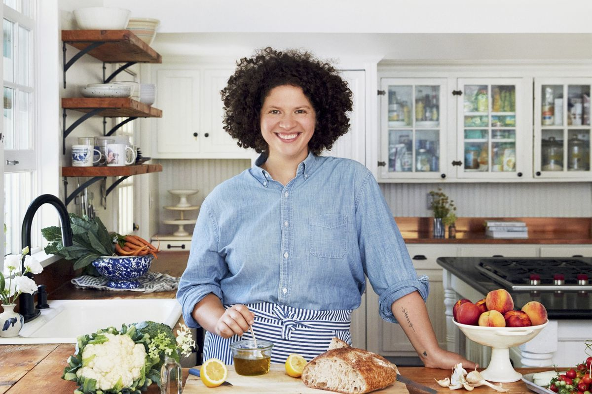 """This cover image released by Harper Wave shows """"Simply Julia: 110 Easy Recipes for Healthy Comfort Food"""" by Julia Turshen."""