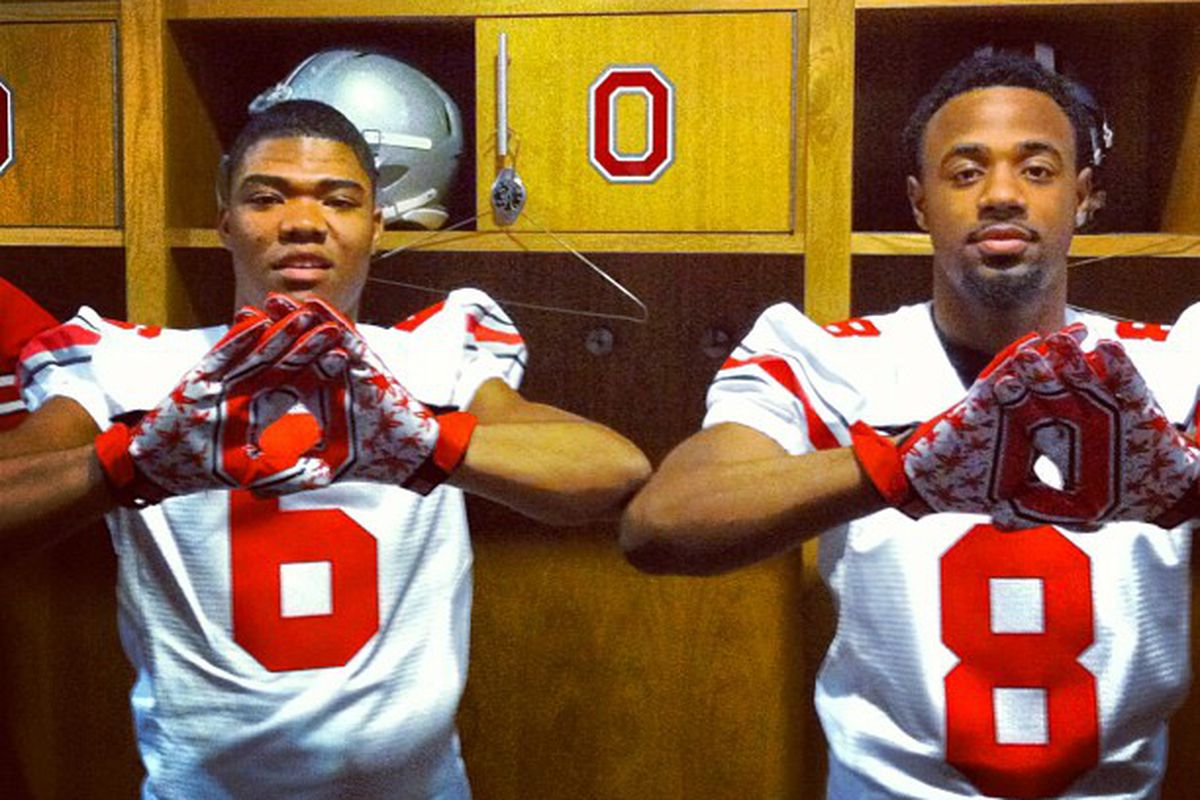 '14 ATH Todd Kelly Jr. and '14 WR Demarre Kitt in their future uniforms?