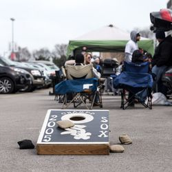 White Sox fans gather at Guaranteed Rate Field for the home opener against the Tigers. | Erin Brown/Sun-Times