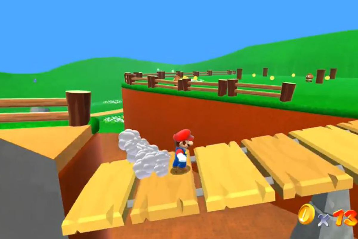 Fan-made Super Mario 64 HD replaced with Nintendo-made