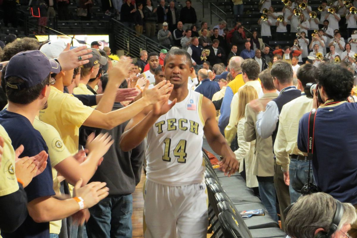 """Georgia Tech's win over Maryland also served as Jason Morris' """"Welcome Home"""" party, as he had not played a minute at home this season while rehabbing an injury."""