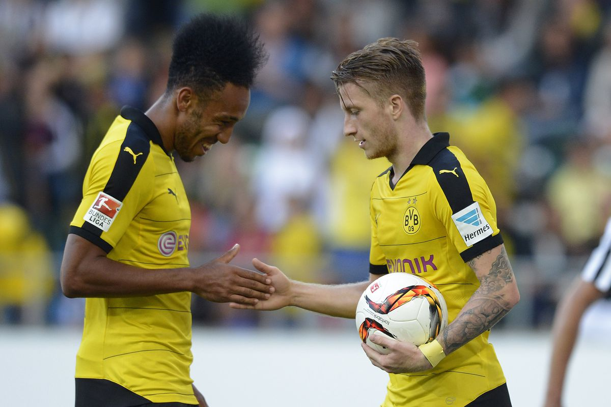 Aubameyang and Reus star in incredibly hype rap video - Fear