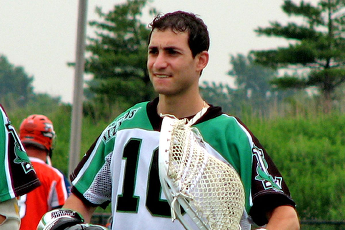 Andrew Goldstein tended goal for the Long Island Lizards of Major League Lacrosse in 2006