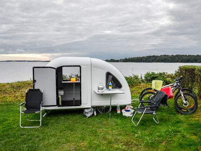 This Tiny Camper Trailer Is Pulled By A Bike Architecture