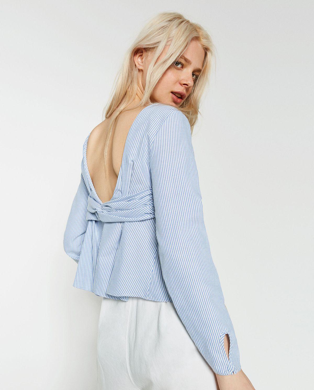 Zara striped top with low-cut back.