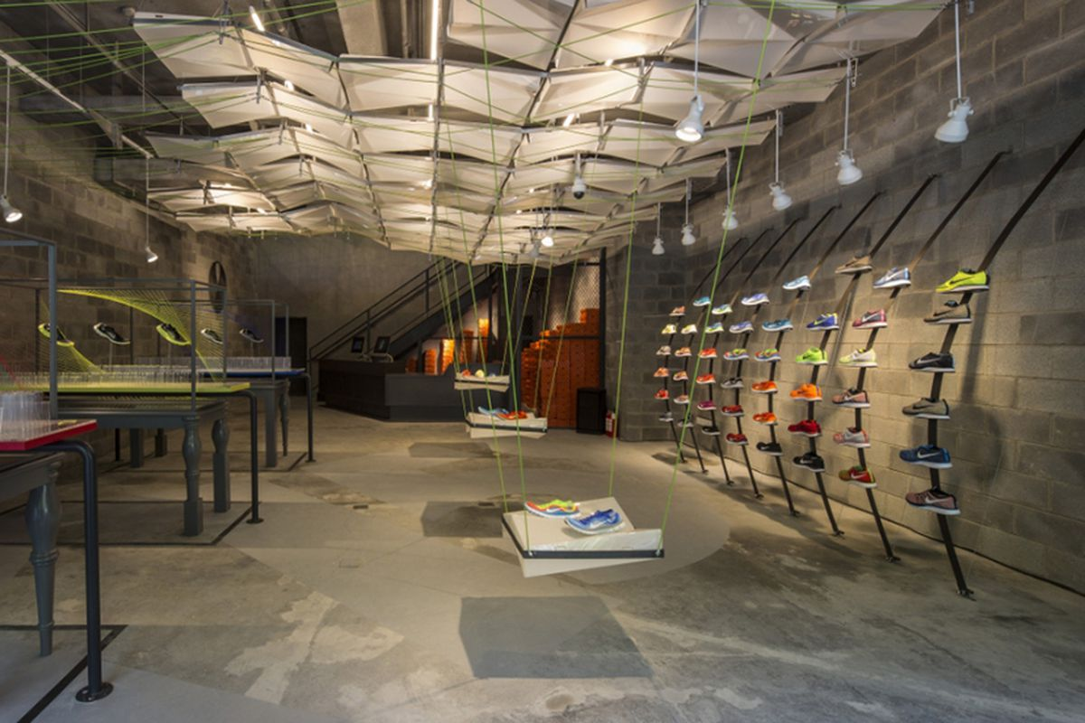 Nike S New Shanghai Store Was Constructed From Trash Racked