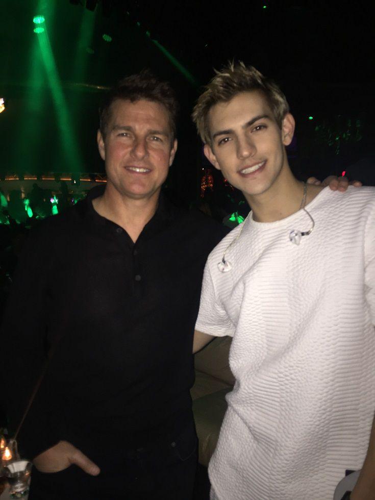 Tom Cruise and Nick Hissom at XS Nightclub