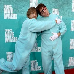 Bunny-footed onesies: Dan Auerbach and Patrick Carney