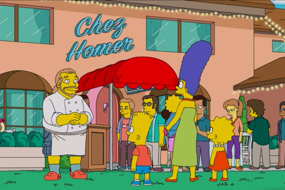 Mario Batali Opens 'Chez Homer' on 'Simpsons' Halloween Special ...