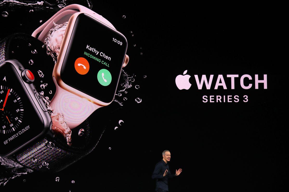 Apple Watch Series 3 onscreen