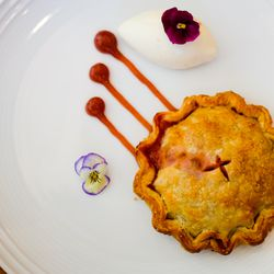 Strawberry-rhubarb pie at Untitled in New York City