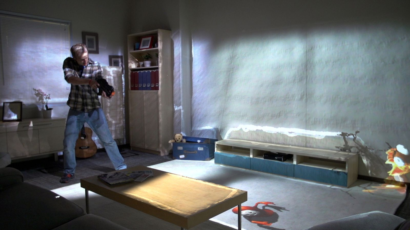 Microsoft 39 s 39 roomalive 39 turns the living room into an for Living room 94 game