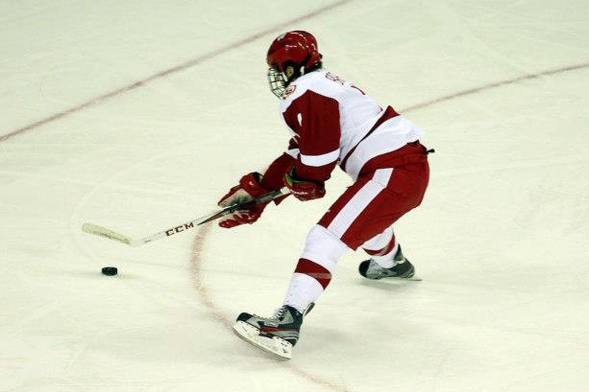 Tyler Barnes scored Wisconsin's lone goal vs Michigan Tech Friday