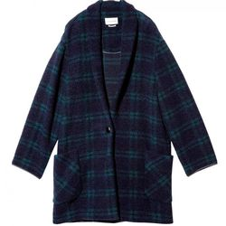 """Etoile Isabel Marant 'Gabrie' check coat, <a href=""""http://otteny.com/shop/clothing/coats/gabrie-check-coat.html"""">$530</a> at Otte"""