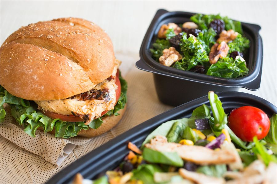 Chick-fil-A sandwiches and salads