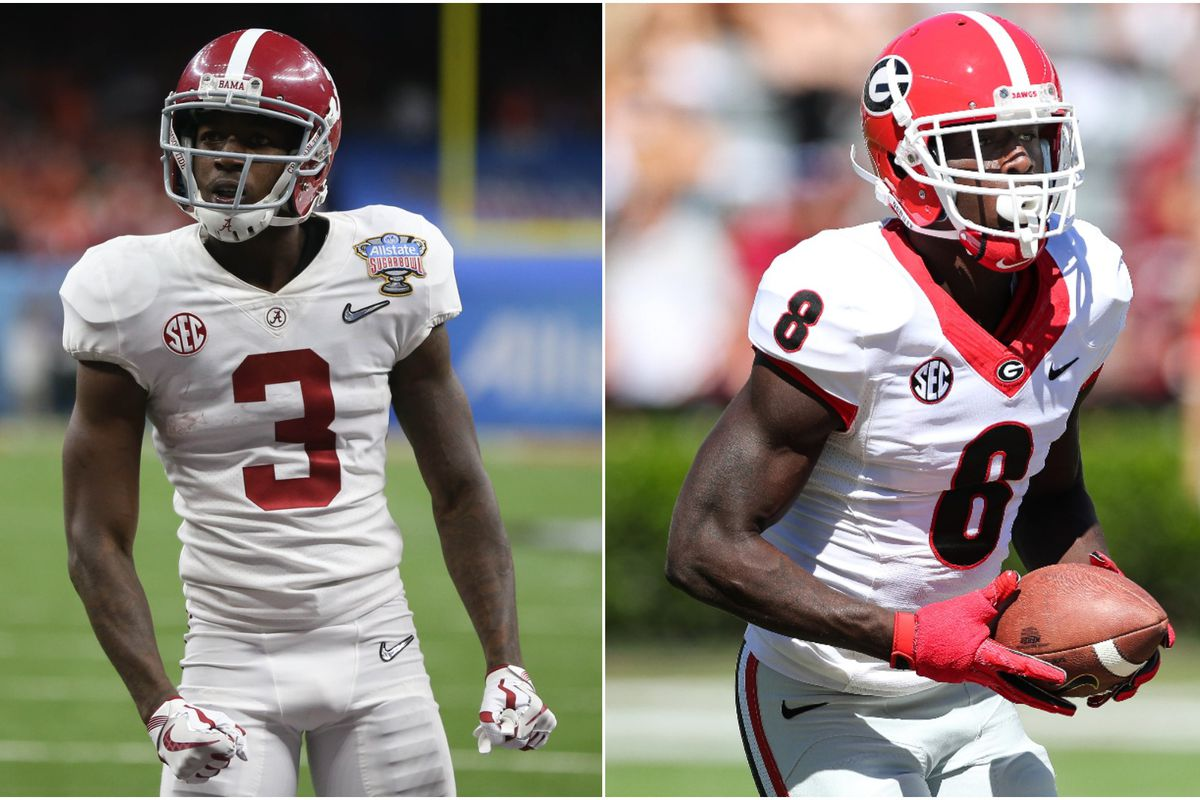 Calvin And Riley Ridley Are Brothers Alabama Georgia Wrs Meet After National Championship Sbnation Com