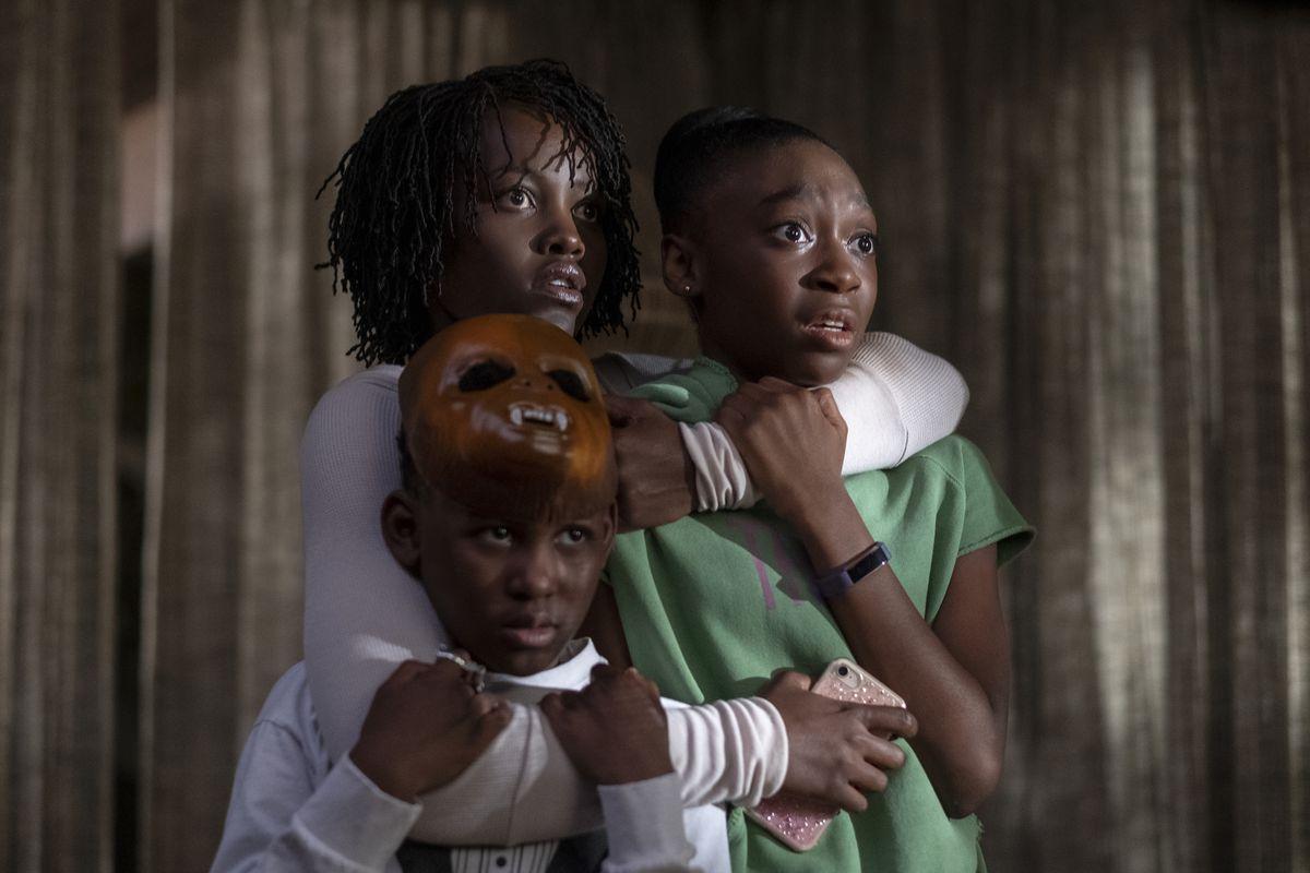 Lupita Nyong, Shahadi Wright Joseph and Evan Alex in Jordan Peeles Us